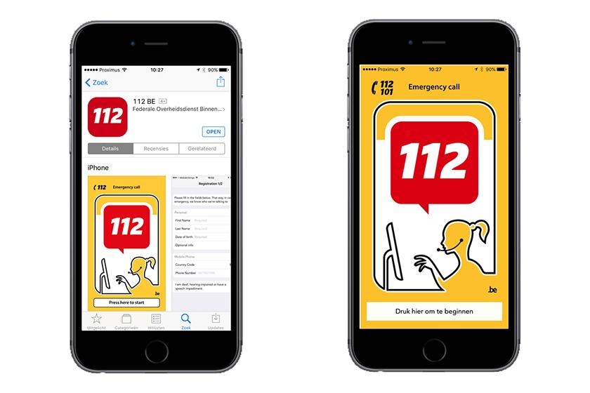 Nieuwe app '112 BE' om noodcentrales te contacteren
