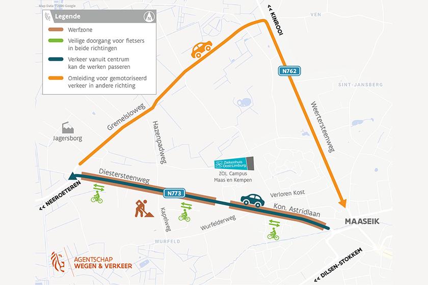 Campus Maas en Kempen beperkt bereikbaar door werken