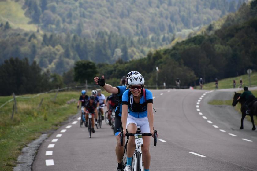 ZOL beklimt bergen in de Vogezen  in de strijd tegen diabetes.
